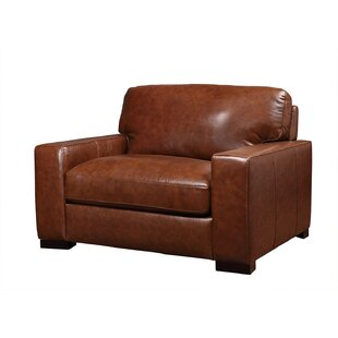 Armstrong Genuine Leather Armchair by Charlton Home