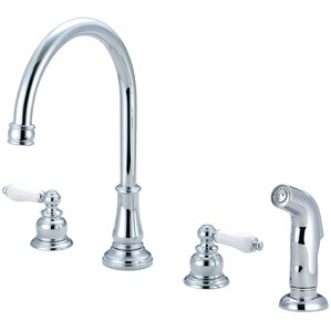 Pioneer Brentwood Widespread Double Handle Kitchen Faucet