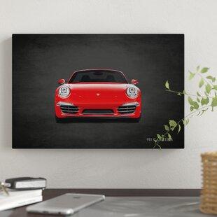 'Porsche 911 Carrera' Graphic Art Print on Canvas ByEast Urban Home