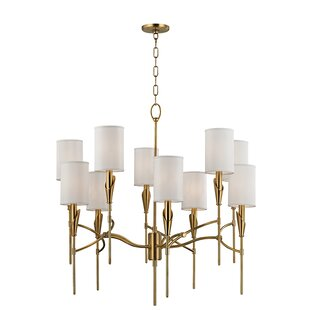 Brayden Studio Levan 10-Light Shaded Chandelier