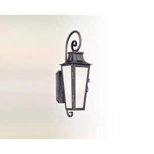 Best Sutton 1-Light Glass Shde Outdoor Wall Lantern By Darby Home Co