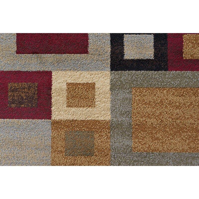 Latitude Run Colette Abstract Multicolor Area Rug