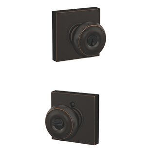 Georgian Keyed Entry Knob with Collins Trim by Schlage
