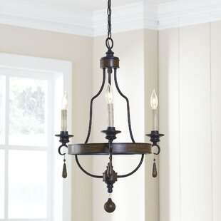 Birch Lane™ Maynard 3-Light Wagon Wheel Chandelier
