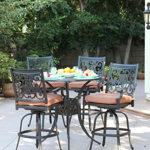 Astoria Grand Mccraney 5 Piece Bar Height Dining Set with Cushions