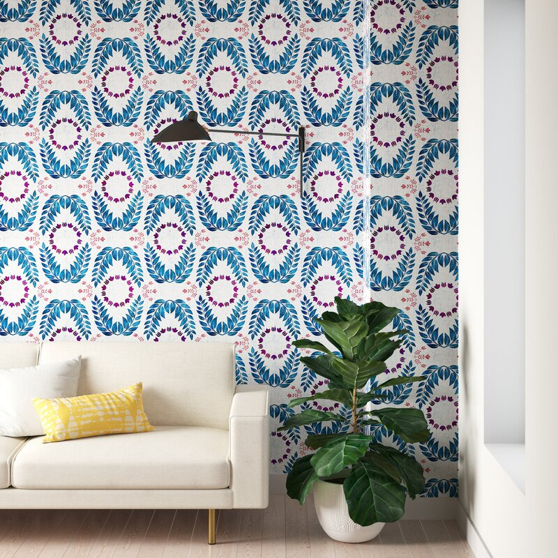 Schatzi Unicorn Coordinate Matte Smooth Peel And Stick Wallpaper Panel Allmodern