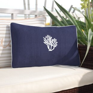 Land O' Lakes Beach Sunbrella Outdoor Lumbar Pillow