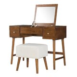 Makayla Vanity Set with Mirror by AllModern