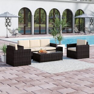 Belton 4 Piece Sofa Set with Cushions