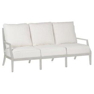 Summer Classics Lattice Patio Sofa with Cushions