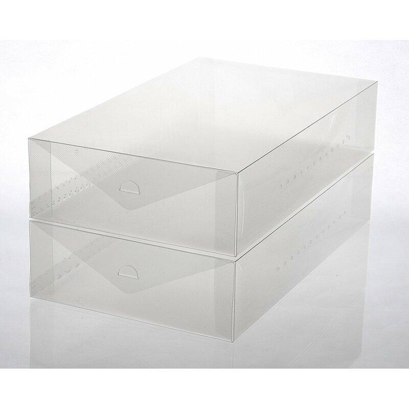 Beau Plastic Boot Foldable 2 Pair Shoe Storage Box Set