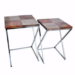 Dineen Elegant 2 Piece Nesting Tables by Orren Ellis