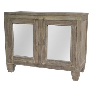 A&B Home Joshua Mirrored 2 Door Accent Cabinet