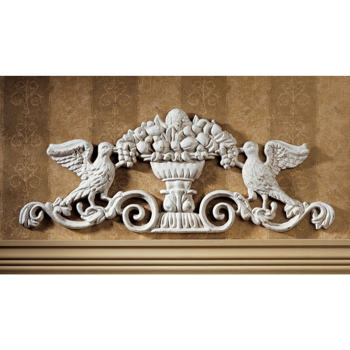 Design Toscano Baroque Architectural Pediment Wall Décor