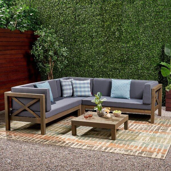 Astonishing Ellison 4 Piece Sectional Wayfair Ibusinesslaw Wood Chair Design Ideas Ibusinesslaworg