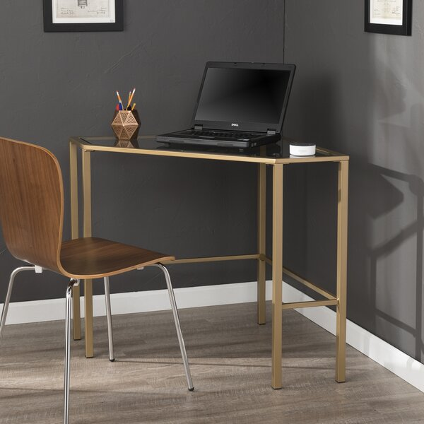Tempered Glass Corner Desk | Wayfair