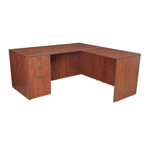 Linh Single Full Pedestal L-Shape Executive Desk by Latitude Run #1