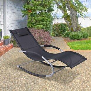Shane Outdoor Poolside Wave Rocker Reclining Zero Gravity Chair by Bay Isle Home