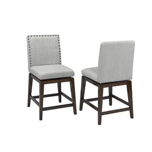Mcneal 24 Swivel Bar Stool (Set of 2) Alcott Hill
