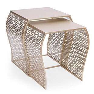 Freeland 2 Piece Nesting Tables by House of Hampton