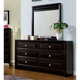 Jacqulyn 6 Drawer Double Dresser with Mirror