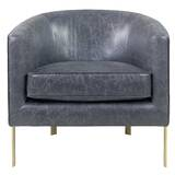 Castiel Bonded Leather Barrel Chair by Everly Quinn