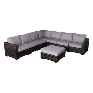 Pierson Patio Sectional with Cushions by Brayden Studio