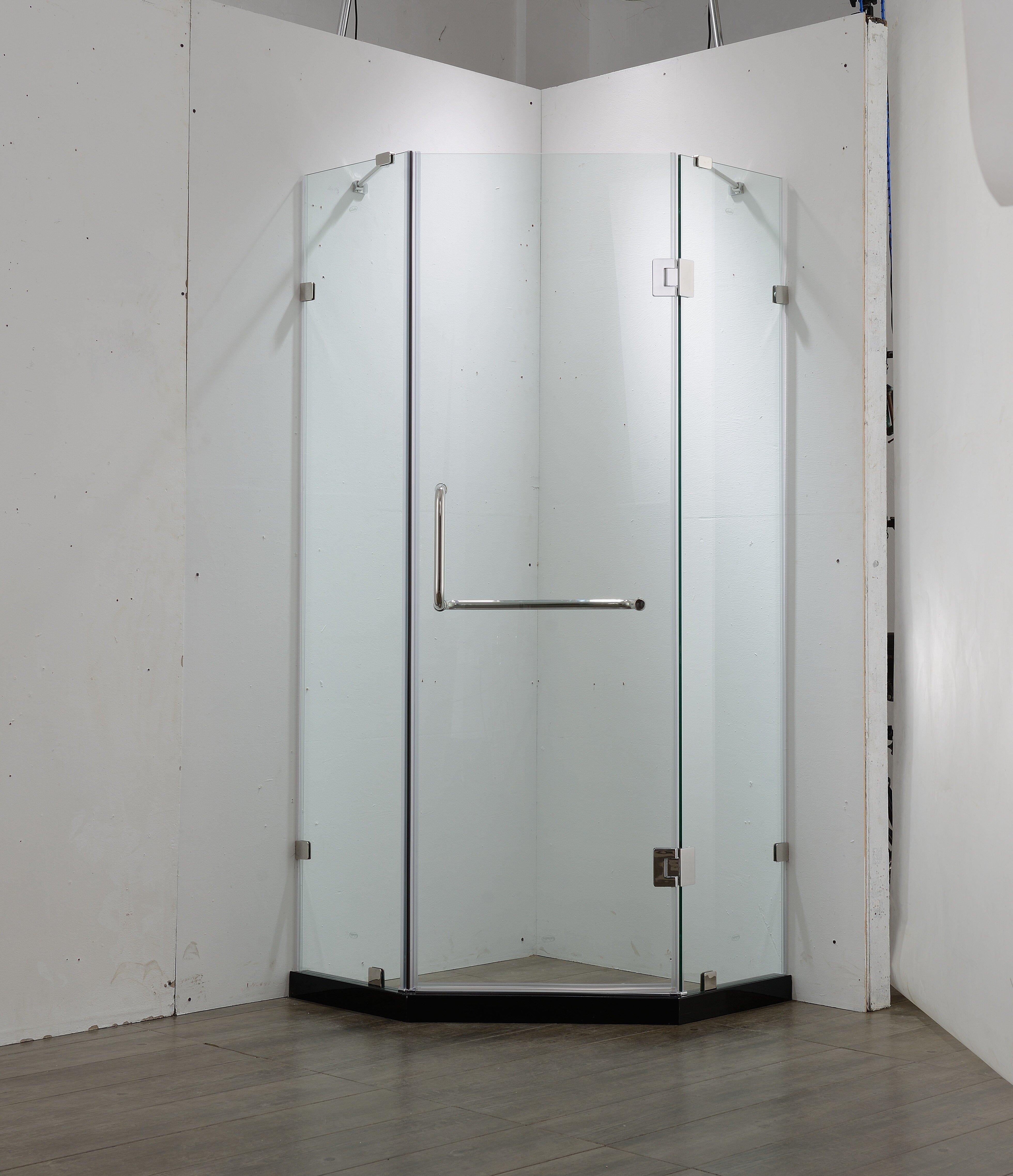 Dreamwerks Neo Angle Corner Unit 36 W X 79 H Pivot Frameless Shower Door