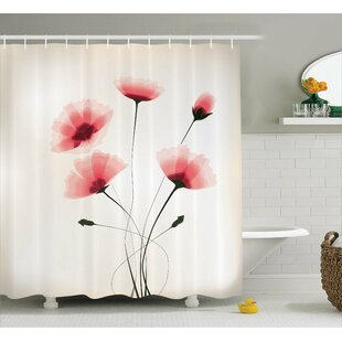 Colvin Romantic Buds Flowers Single Shower Curtain