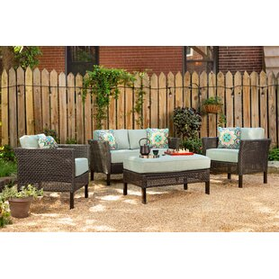 Joshua 4 Piece Sofa Set with Cushions