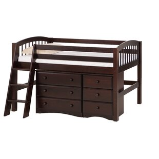 Rabon Low Loft Bed with Storage