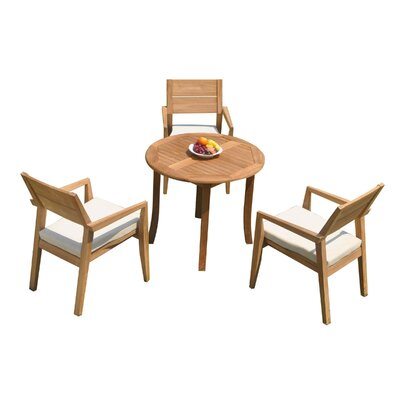 Reaon 4 Piece Teak Dining Set by Rosecliff Heights