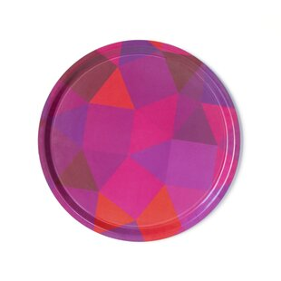 Prismatic Melamine Round Serving Platter