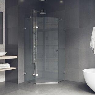 Great Price Verona 38.13 x 73.38 Neo-Angle Hinged Shower enclosure ByVIGO
