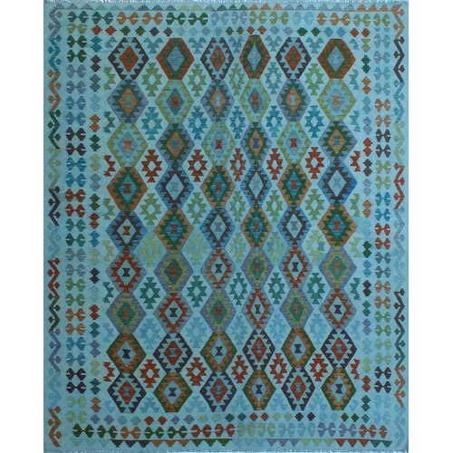 Bloomsbury Market Earle Handmade Kilim Wool Navy Rug Wayfair
