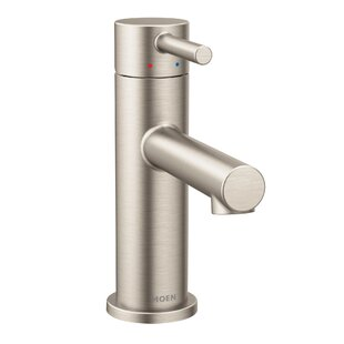 Compare Align Single Hole Bathroom Faucet with Drain Assembly By Moen
