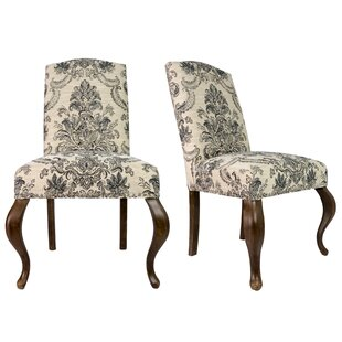 Monteith Queen Ann Spring Upholstered Side Chair Set of 2 by Astoria Grand