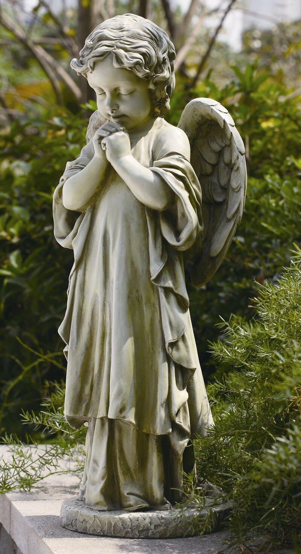 Bon Roman, Inc. Young Praying Angel Garden Statue U0026 Reviews | Wayfair