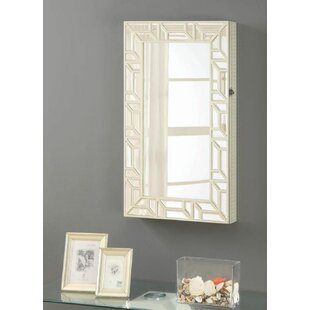 Mooreland Wall Mount Jewelry Armoire with Mirror