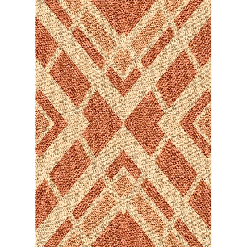 East Urban Home Ottilie Geometric Wool Brown Area Rug Wayfair