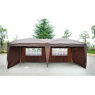 Hartin 10 Ft. W x 20 Ft. D Metal Pop-Up Canopy by Symple Stuff