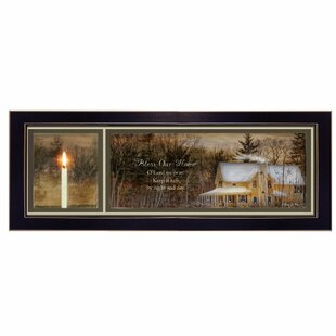 64a249565099  God Bless Our Home  Framed Graphic Art on Canvas
