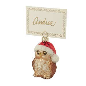 Owl Ornament & Place Card Holder (Set of 4)