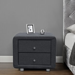 Gravois 2 Drawer Bedside Table By Mercury Row