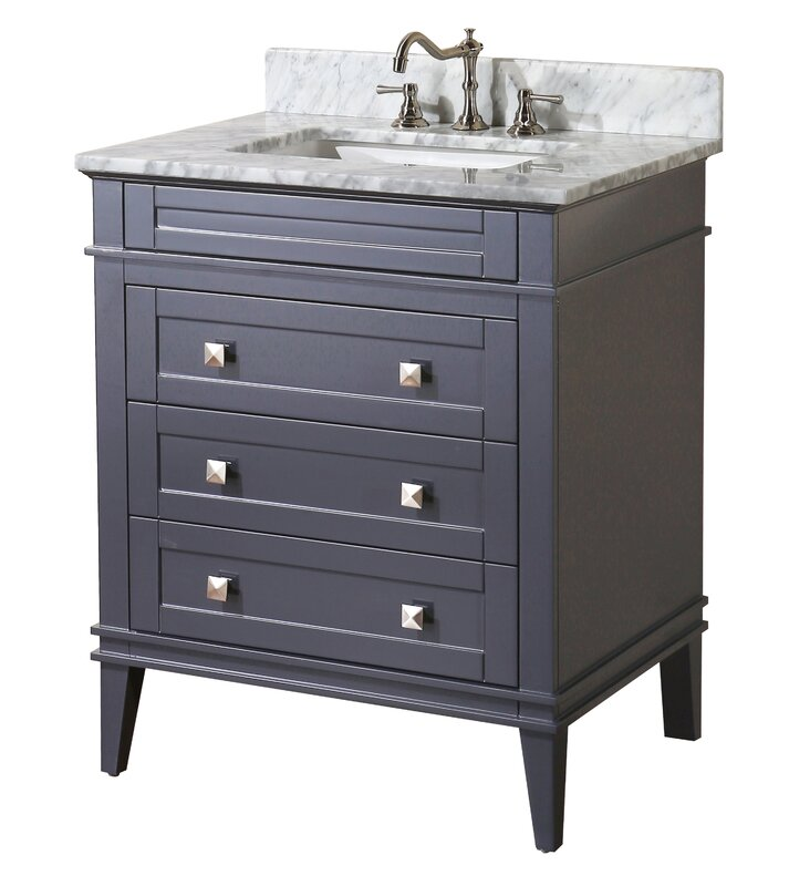 "Bathroom Vanity Gray kbc eleanor 30"" single bathroom vanity set & reviews 