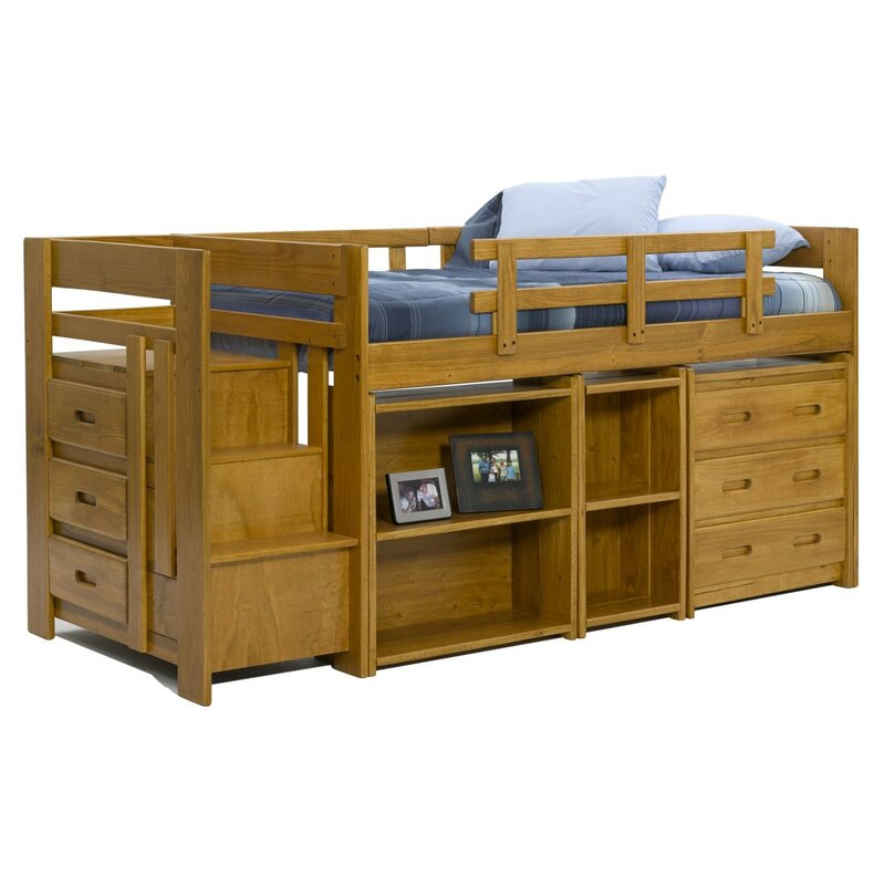 Chelsea Home Twin Loft Bed with Storage & Reviews | Wayfair