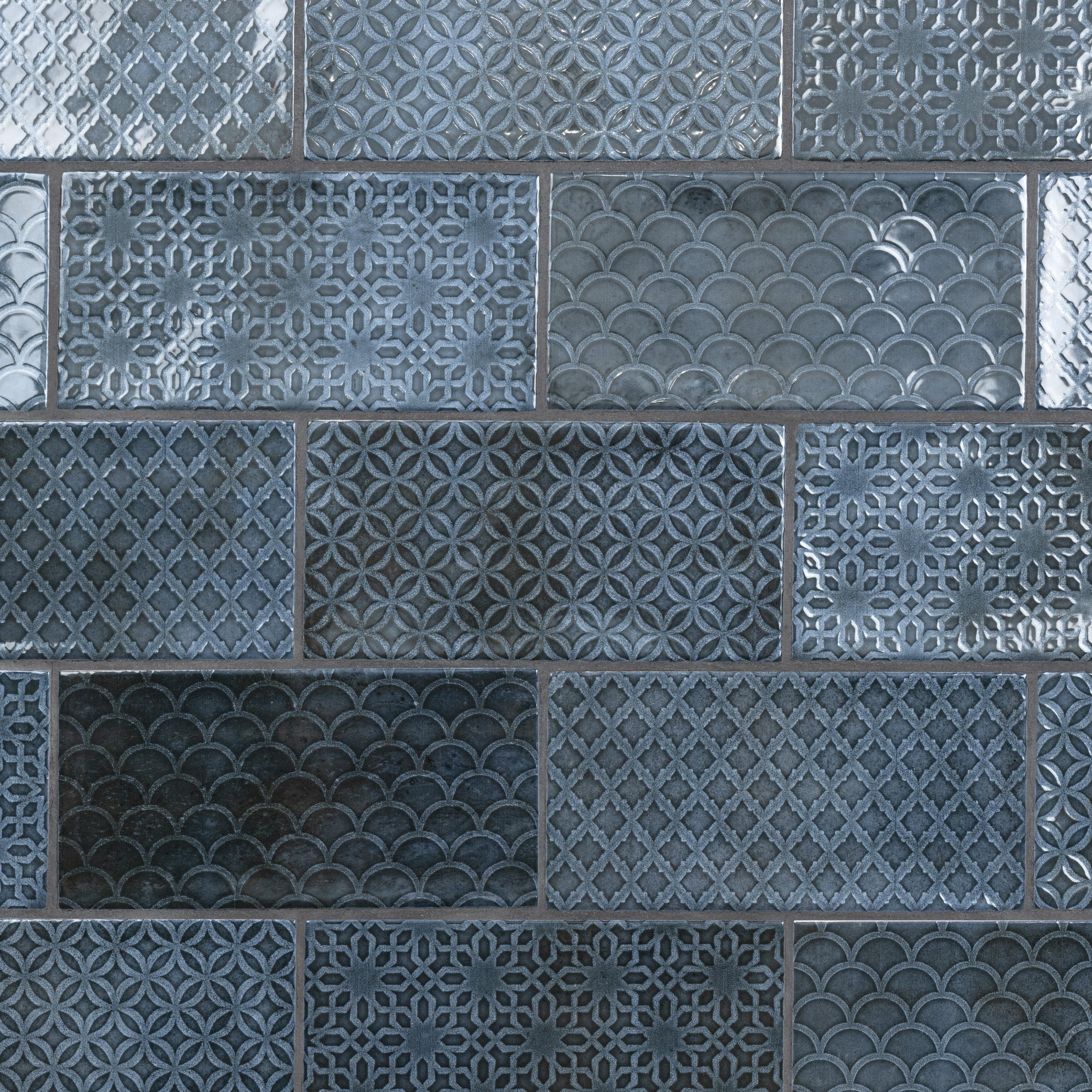 Blue Floor Tiles Wall Tiles You Ll Love In 2021 Wayfair