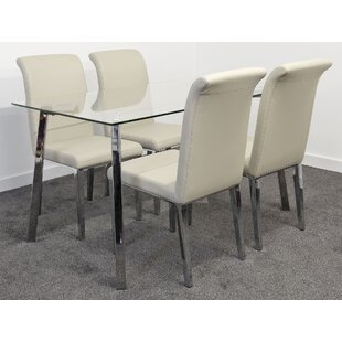 Desborough Dining Set With 4 Chairs By Metro Lane
