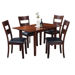 Assante Modern 5 Piece Solid Wood Dining Set by Alcott Hill