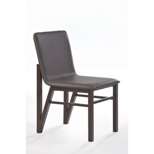 Brayden Studio Mccullum Genuine Leather Upholstered Dining Chair (Set of 2)